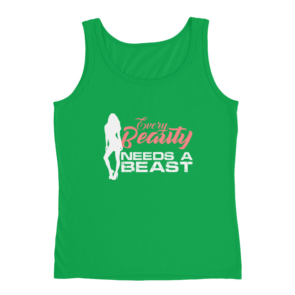 Every Beauty Needs a Beast - Funny Fitness Couples Tank Top for Women
