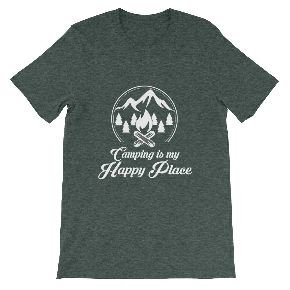 Camping is My Happy Place Funny Camping Shirt for Men & Women