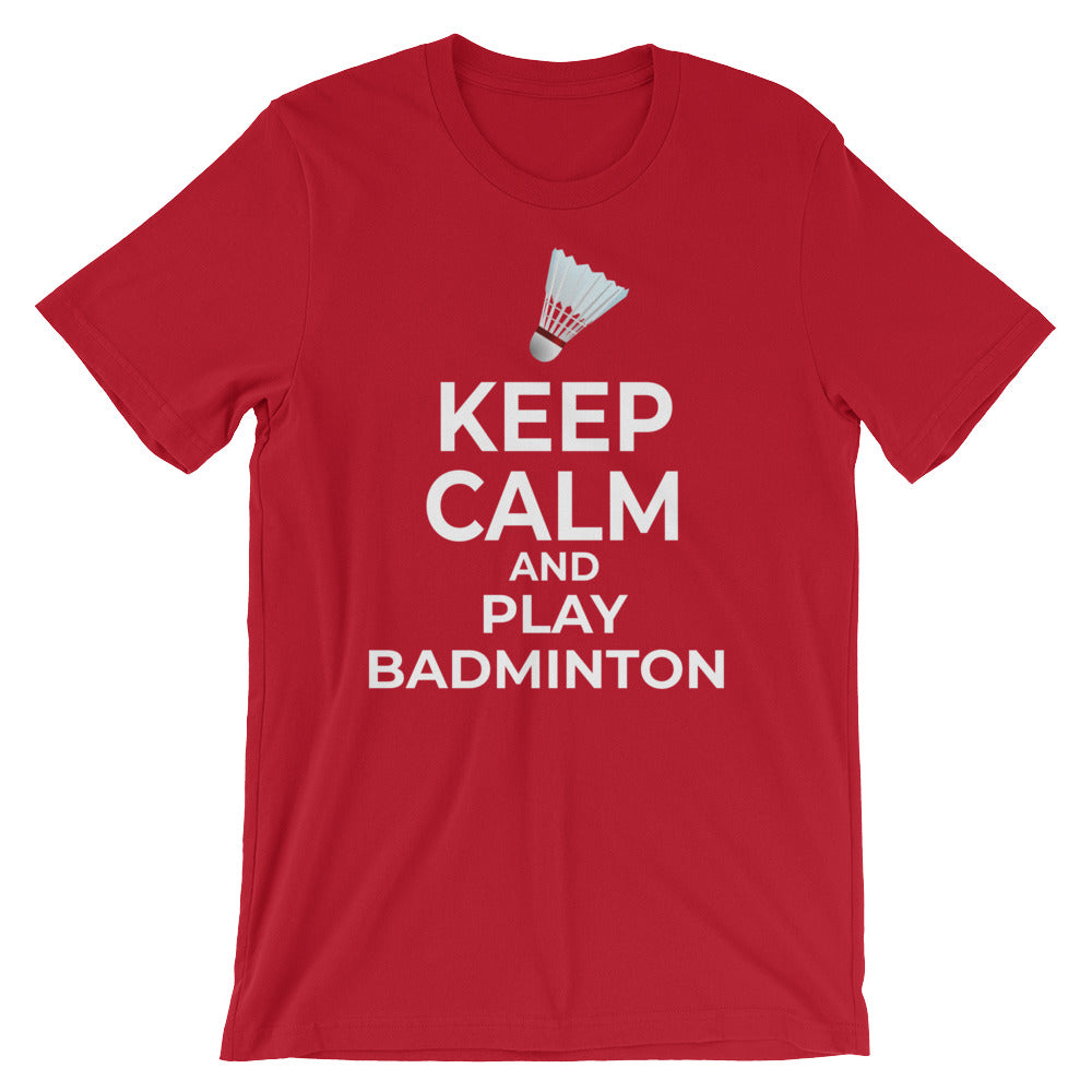 Keep Calm and Play Badminton T-Shirt Gift Funny Badminton Player Tee Shirts Gifts