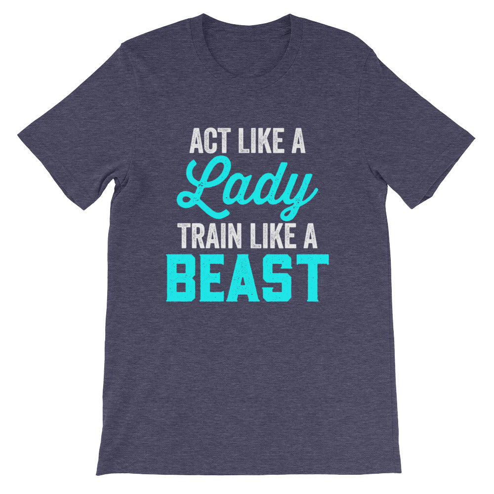 Act Like A Lady Funny Fitness Workout Shirt for Women