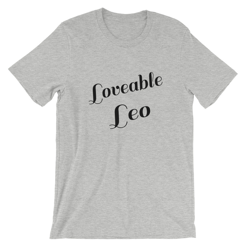 Loveable Leo Zodiac Sign Astrology Horoscope Graphic Tee Tshirt