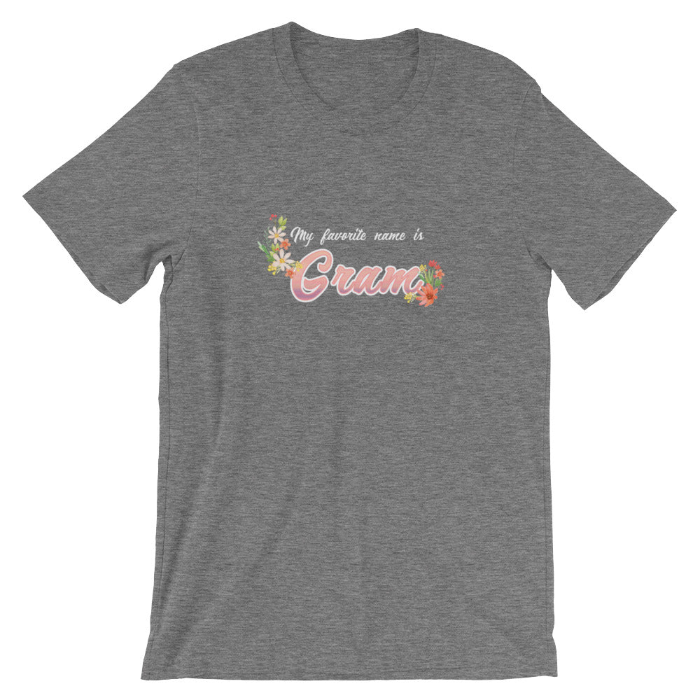 My Favorite Name is Gram Shirt Cute Grandmother Grandma Gifts from Grandkids