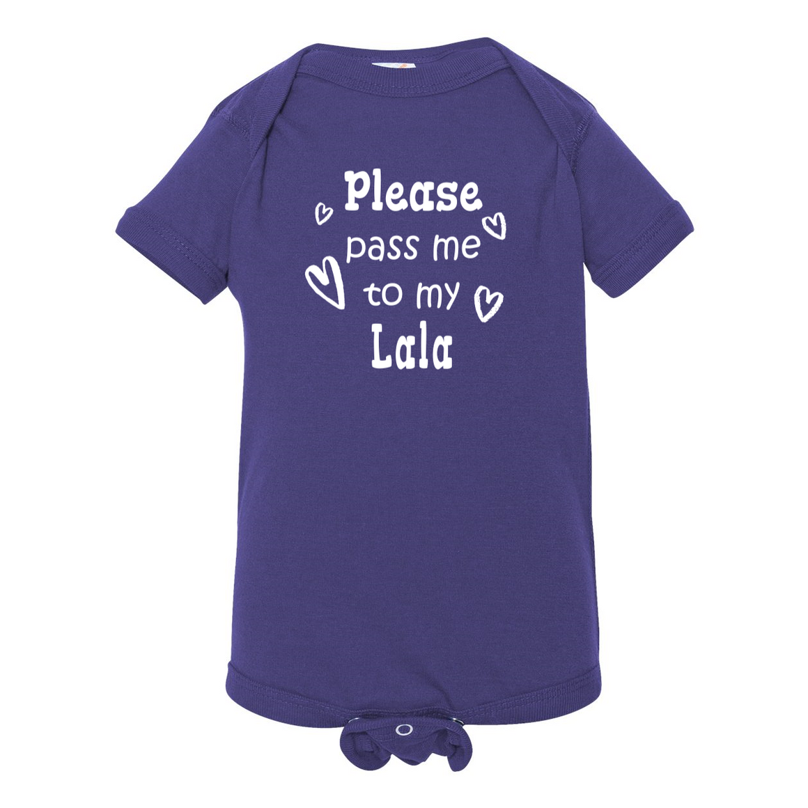 Pass Me To Lala Grandmother Baby Bodysuit