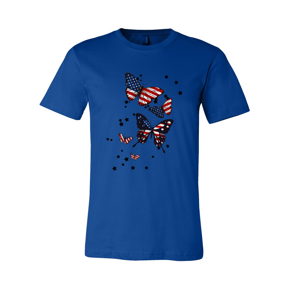 Red White & Blue Patriotic Butterflies Tshirt