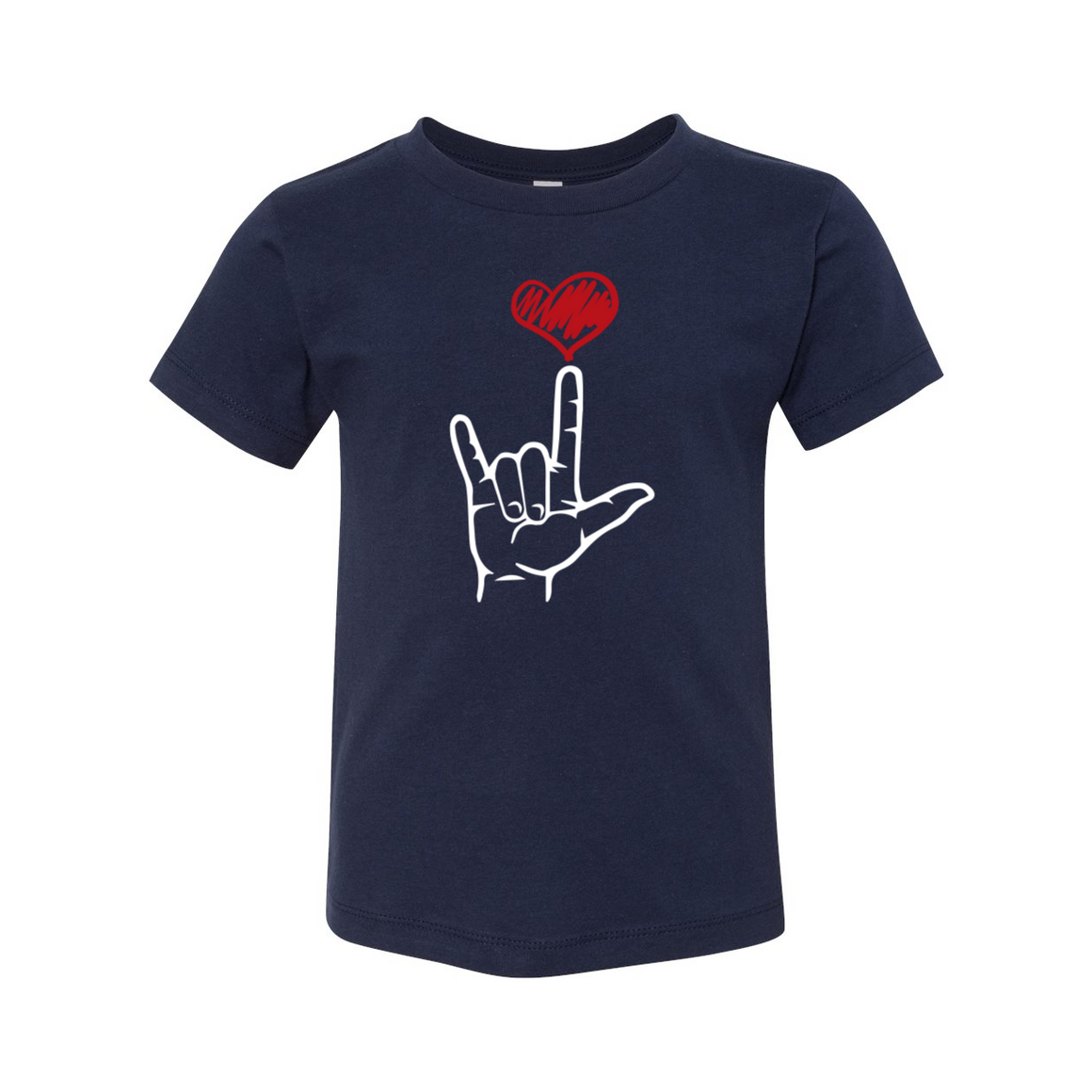 ASL I Love You Sign Language Toddler Tshirt