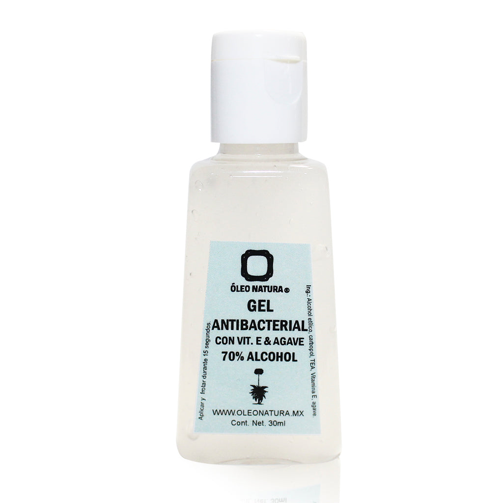 Gel antibacterial 70% Alcohol con Vitamina E & Agave