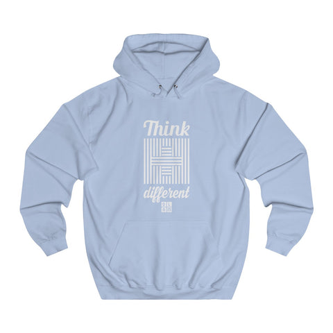 Sweat à capuche chrétien bleu ciel - Think different #DLAM