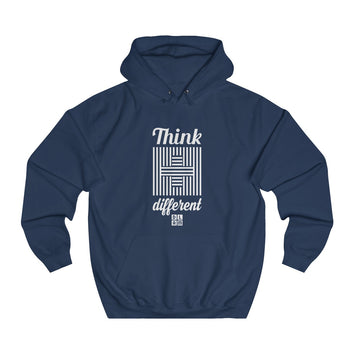 Sweat à capuche chrétien bleu - Think different #DLAM