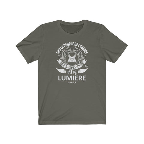 t-shirt chrétien olive - citation Bible Isaïe #DLAM