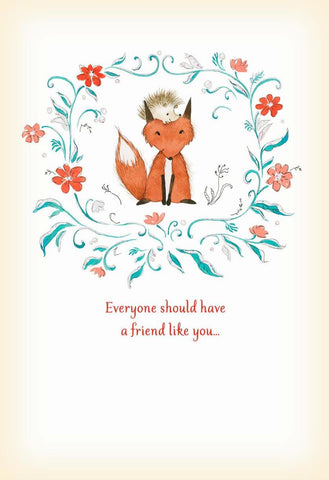 Hallmark Cards fox card