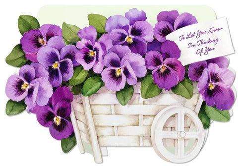 Hallmark watercolour pansies