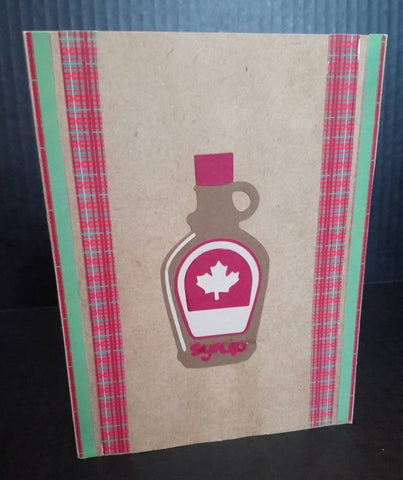 maple syrup card