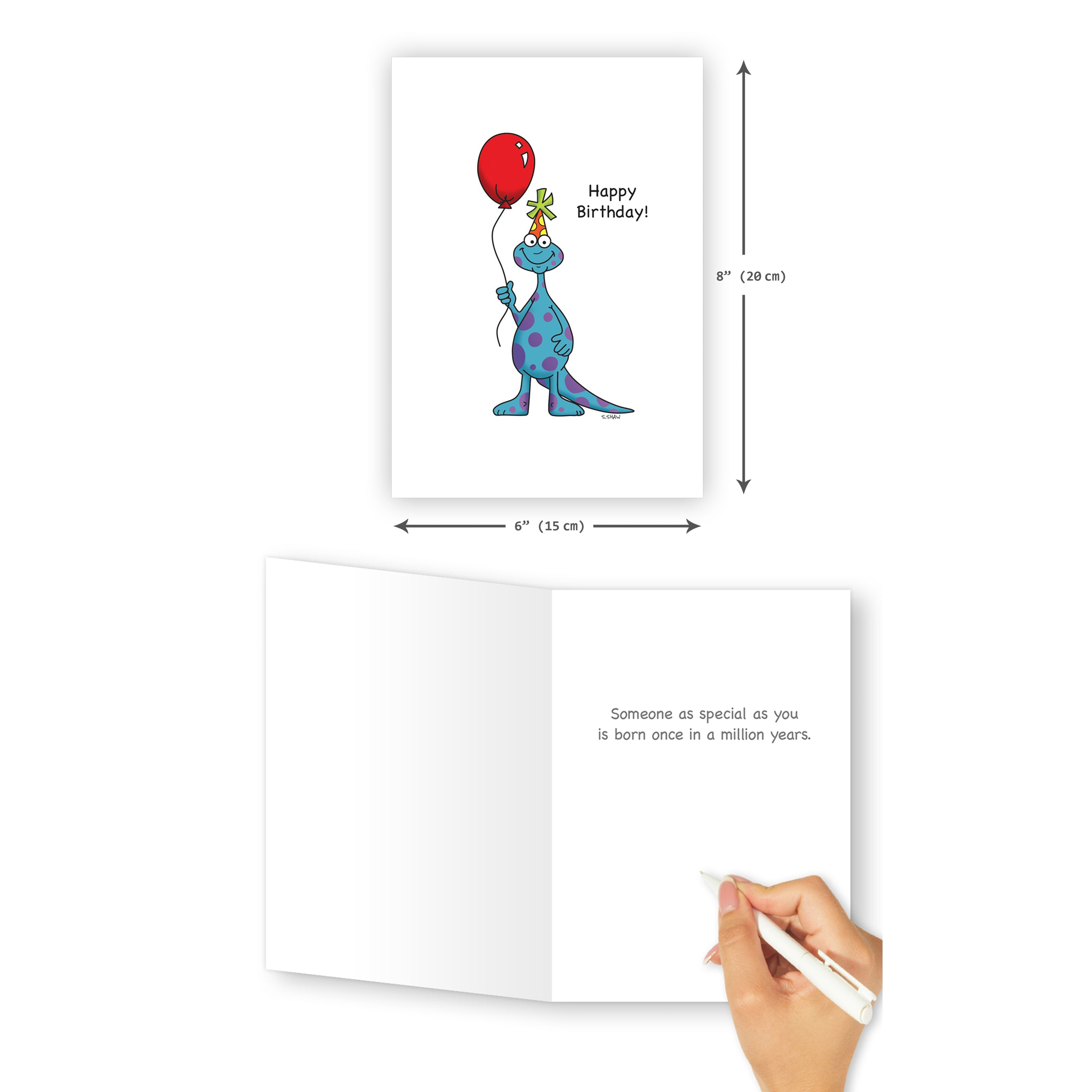 'Dino' Birthday Card - Northern Cards
