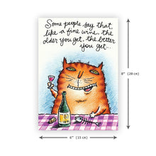 'Kitty Connoisseur' Birthday Card - Northern Cards