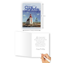 'Lighthouse' Birthday Card - Northern Cards