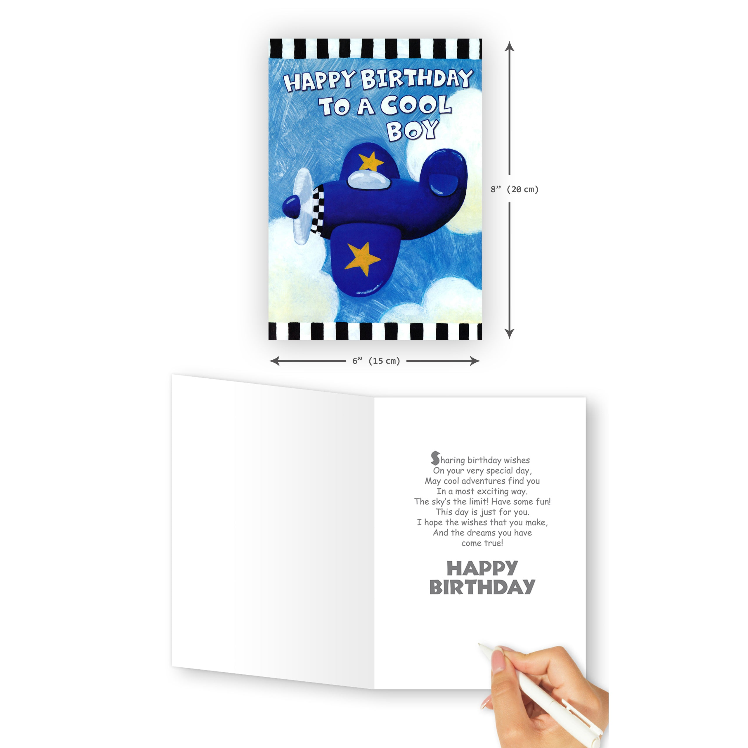 'Airplane Boy' Birthday Card - Northern Cards