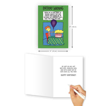 Birthday Warning Card - Northern Cards
