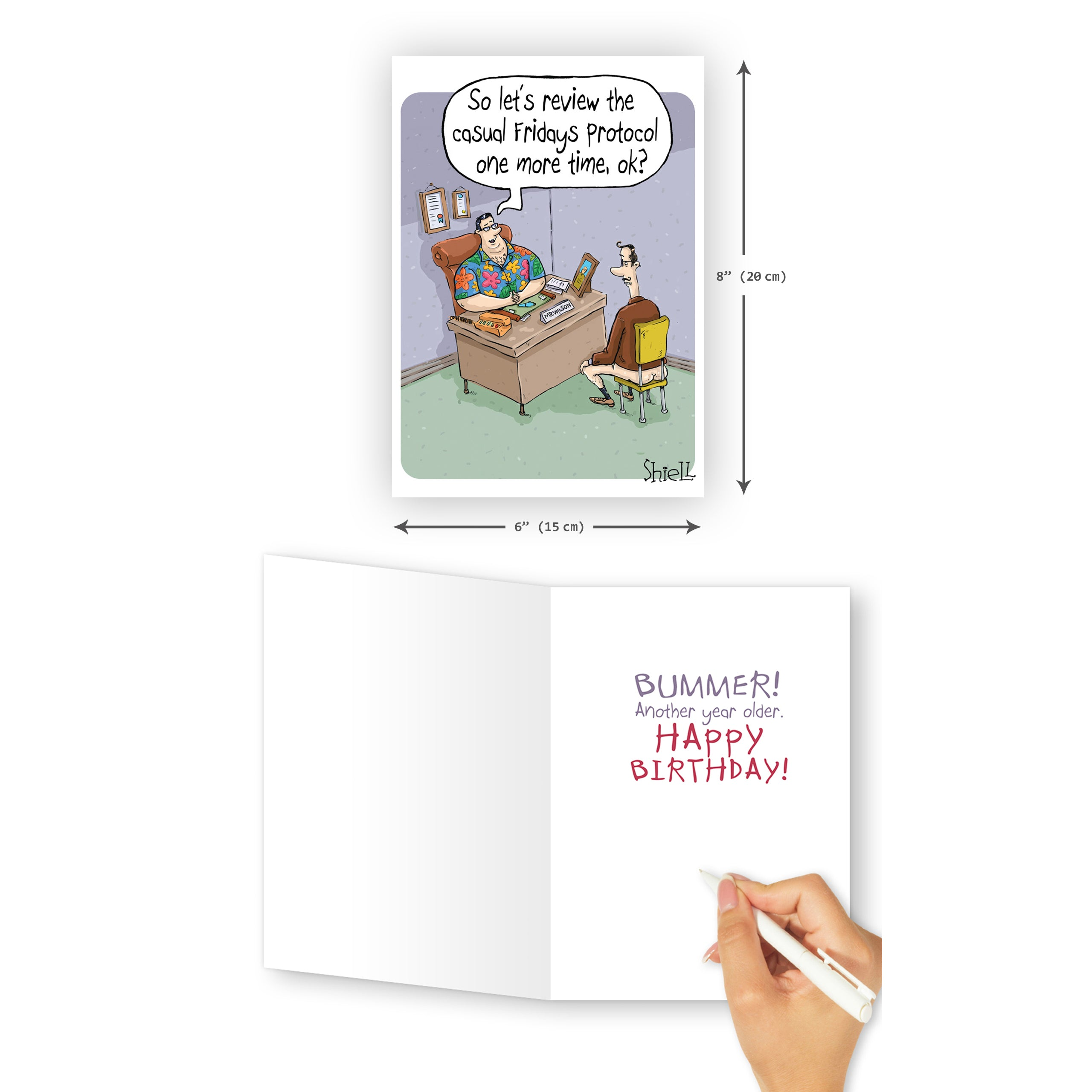 'Bummer' Birthday Card - Northern Cards