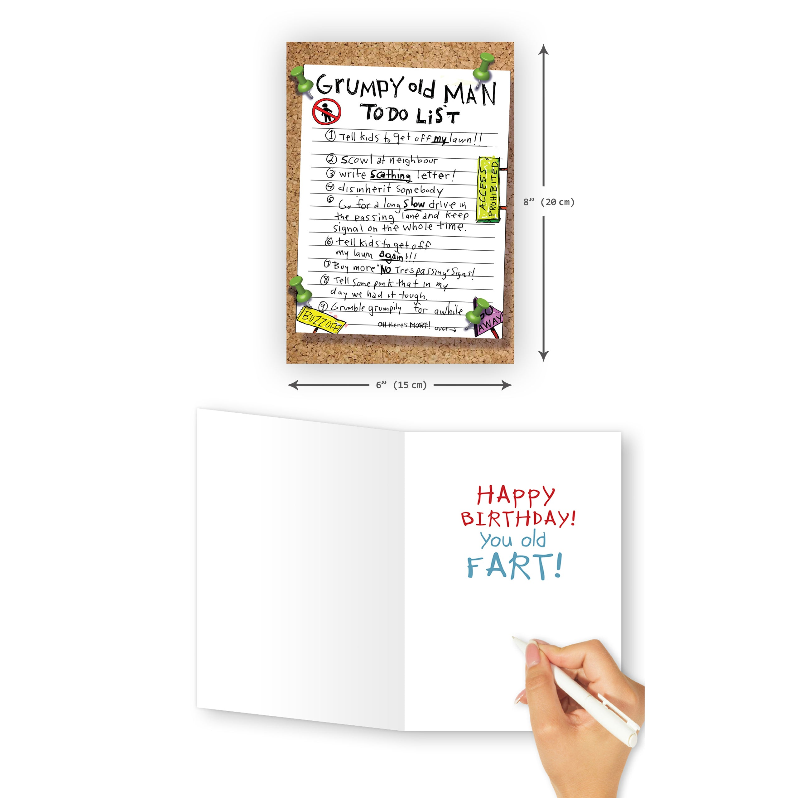 'Grumpy Old Man' Birthday Card - Northern Cards