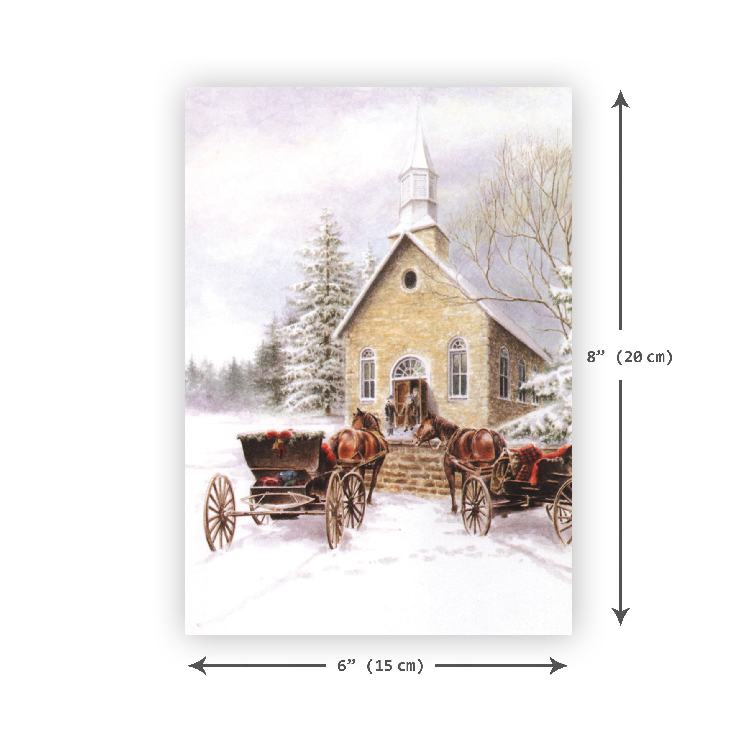 'Small Town Christmas' Merry Christmas Card - Northern Cards size