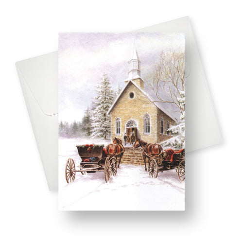 (MSRP $180.00-lot of 48 Greeting Cards)'Small Town Christmas' 0.29US/0.38CAN