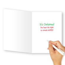'Elf Interrogation' Christmas Card - Northern Cards inside