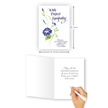 'Flower Wisp' Sympathy Card - Northern Cards