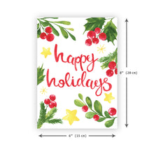 'Happy Holidays' Christmas Card - Northern Cards size