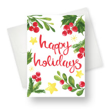 'Happy Holidays' Christmas Card - Northern Cards front with envelope