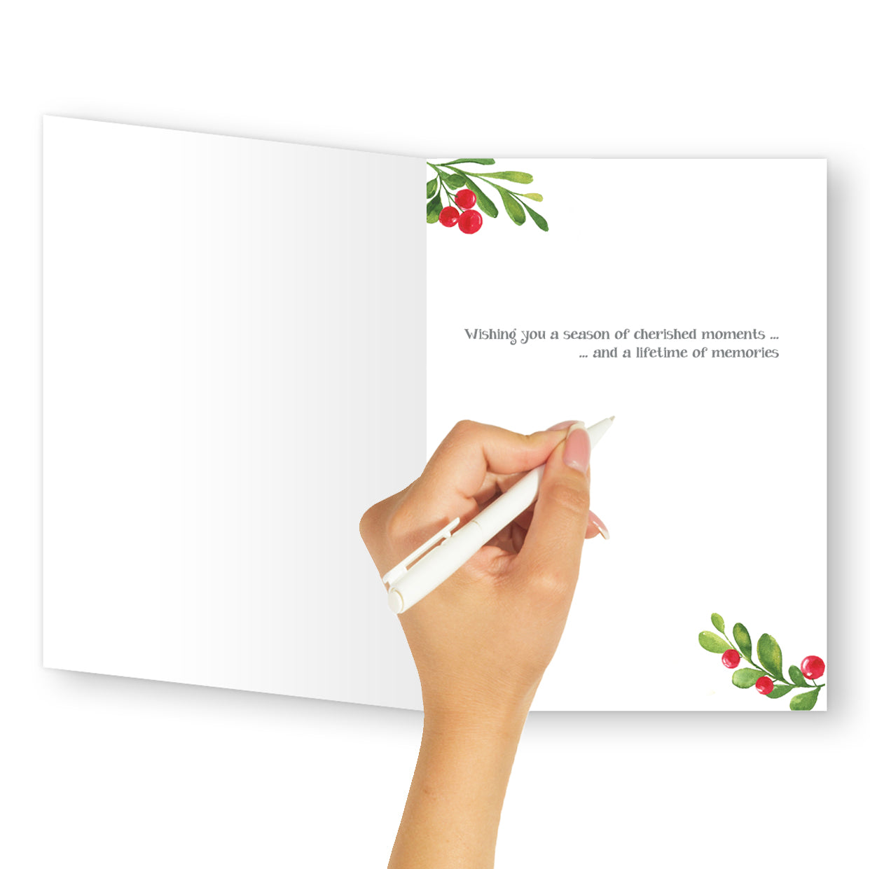 'Happy Holidays' Christmas Card - Northern Cards inside