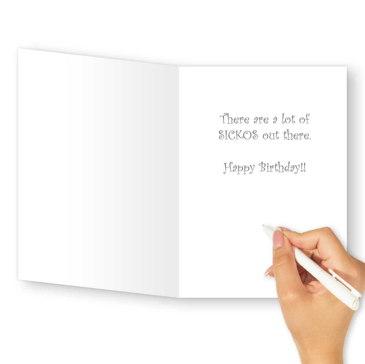 'Sickos' Birthday Card - Northern Cards