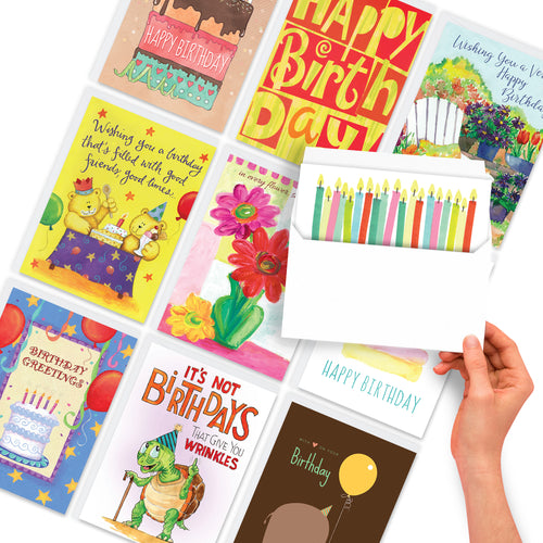 Birthday Card Assortment (10 Cards) - Northern Cards