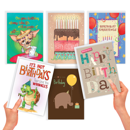 Birthday Card Assortment (6 Cards)