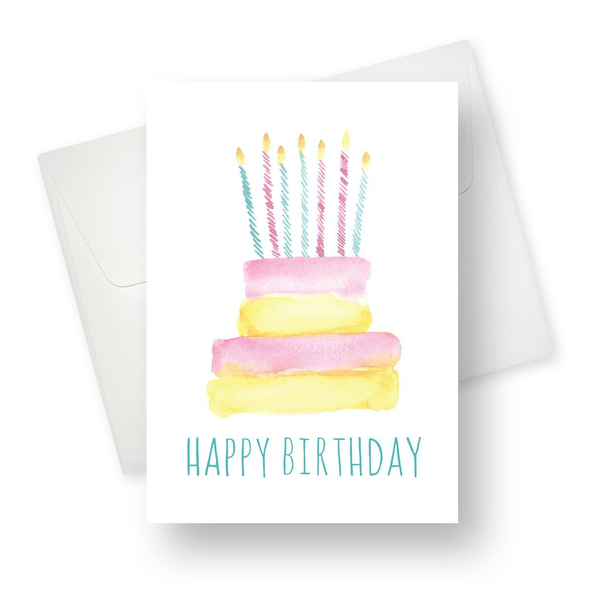 'Birthday Cake and Candles' Card - Northern Cards