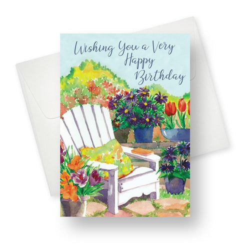 'Birthday Chair' Garden Birthday Card - Northern Cards