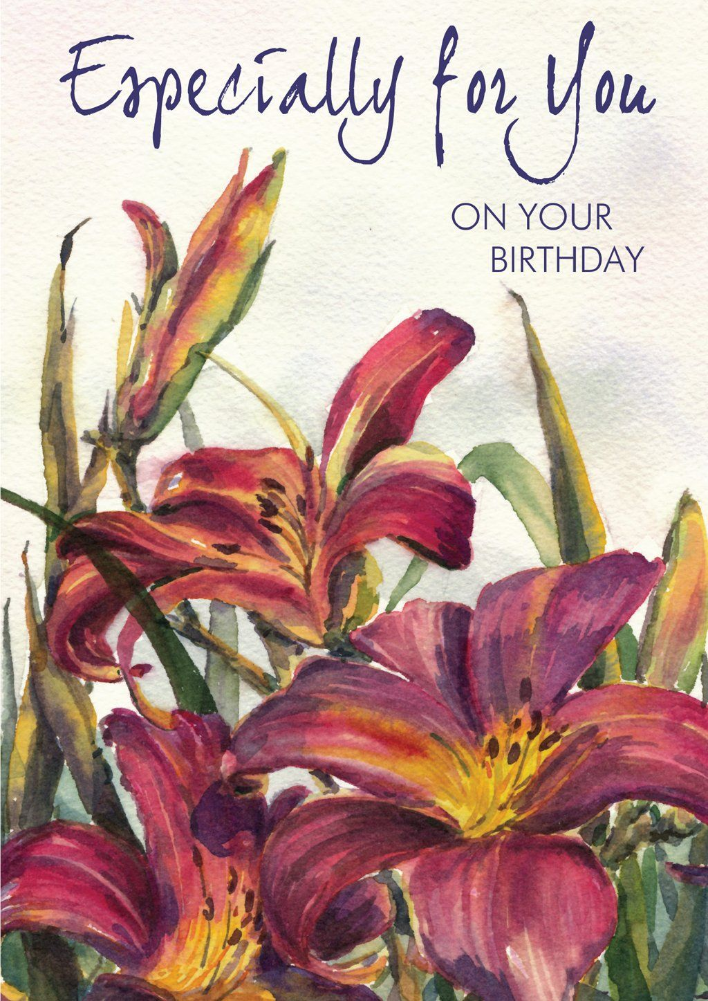 'Birthday Lilies' Birthday Card - Northern Cards