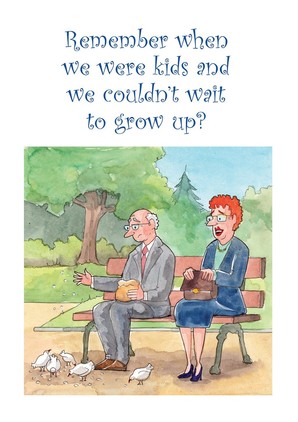'Couldn't Wait' Old Folks Birthday Card - Northern Cards