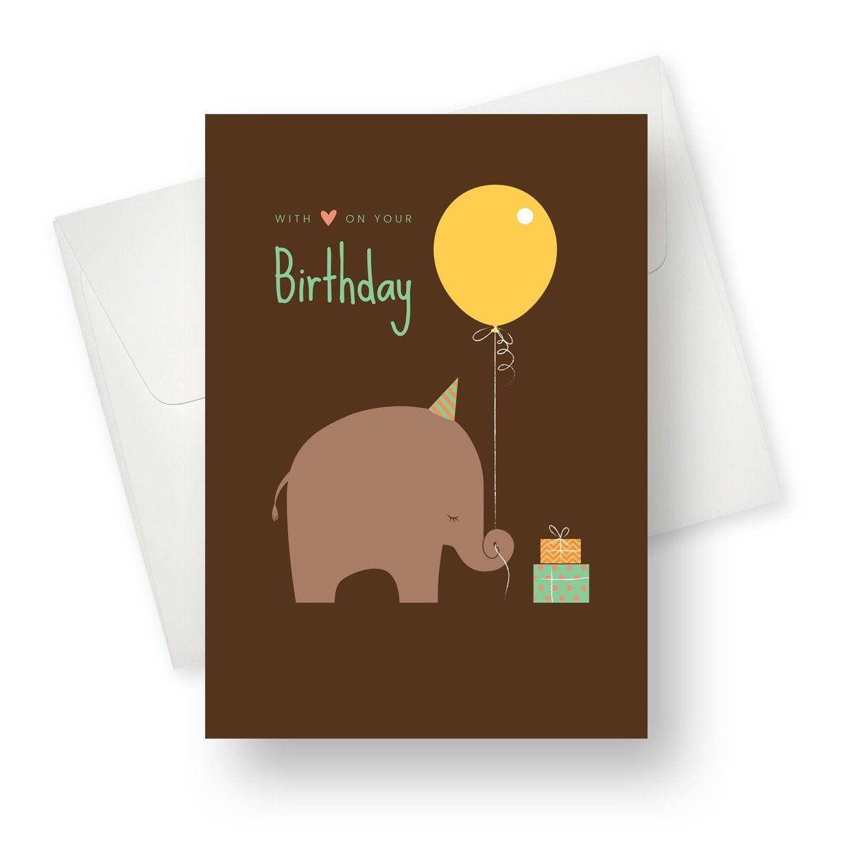 'Elephant Balloon' Cute Elephant Birthday Card - Northern Cards