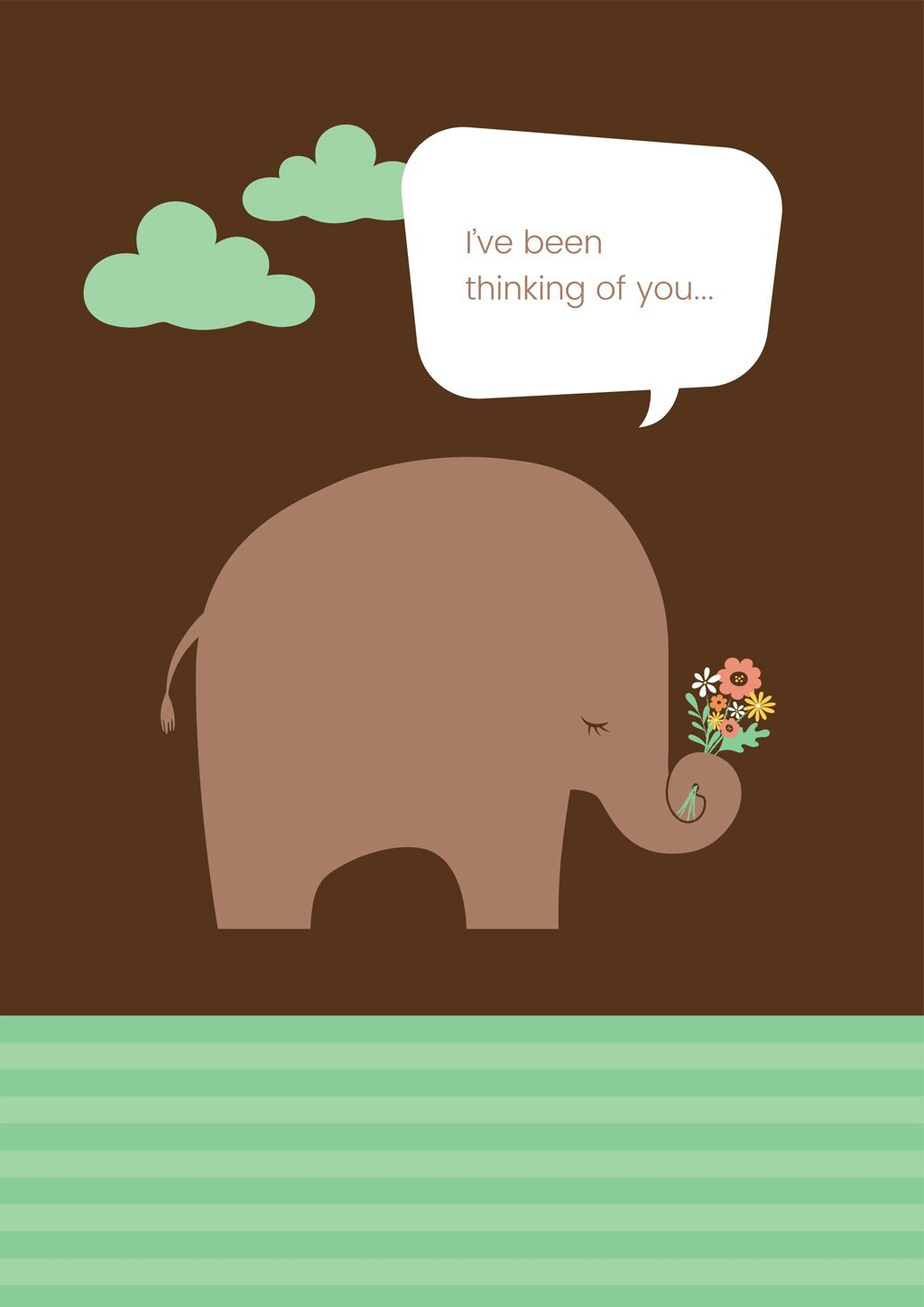 'Elephant Flowers' Friendship Card - Northern Cards