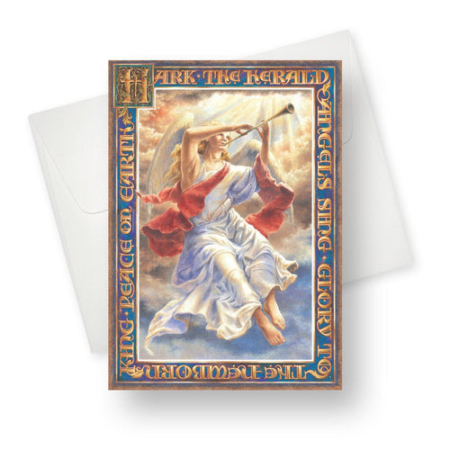 'Glorious Angel' Christmas Card - Northern Cards front with envelope