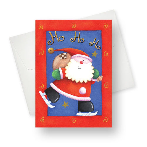 'Ho Ho Ho' Christmas Card - Northern Cards front with envelope