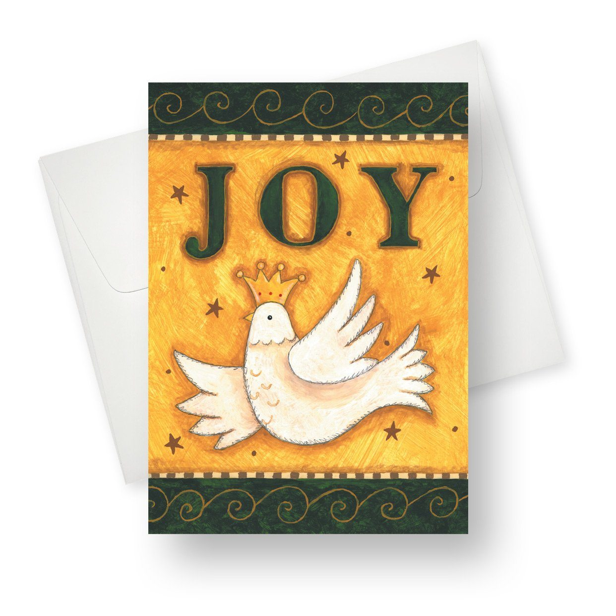 'Joy' Christmas Card - Northern Cards front with envelope