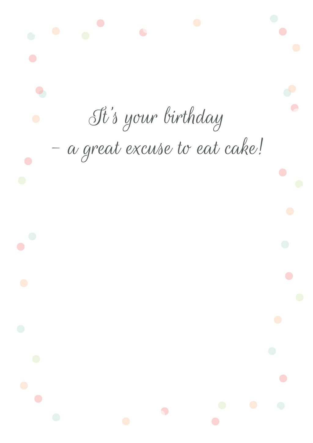 'Layered Cake' Birthday Card - Northern Cards