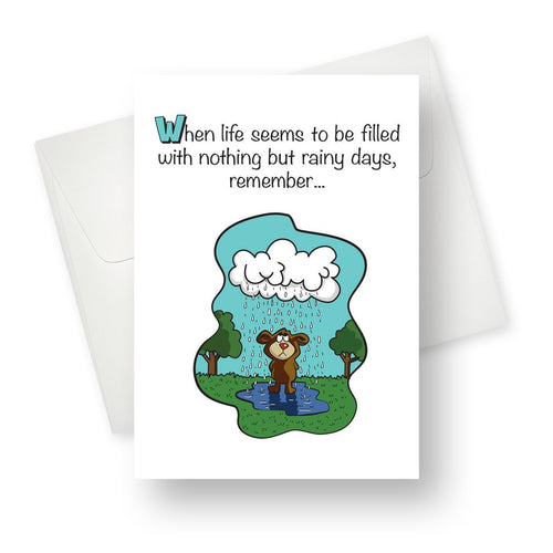 'My Umbrella' Bear Friendship Card - Northern Cards