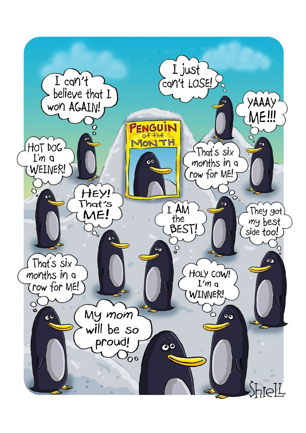 'Penguins' Love/Someone Special Card - Northern Cards