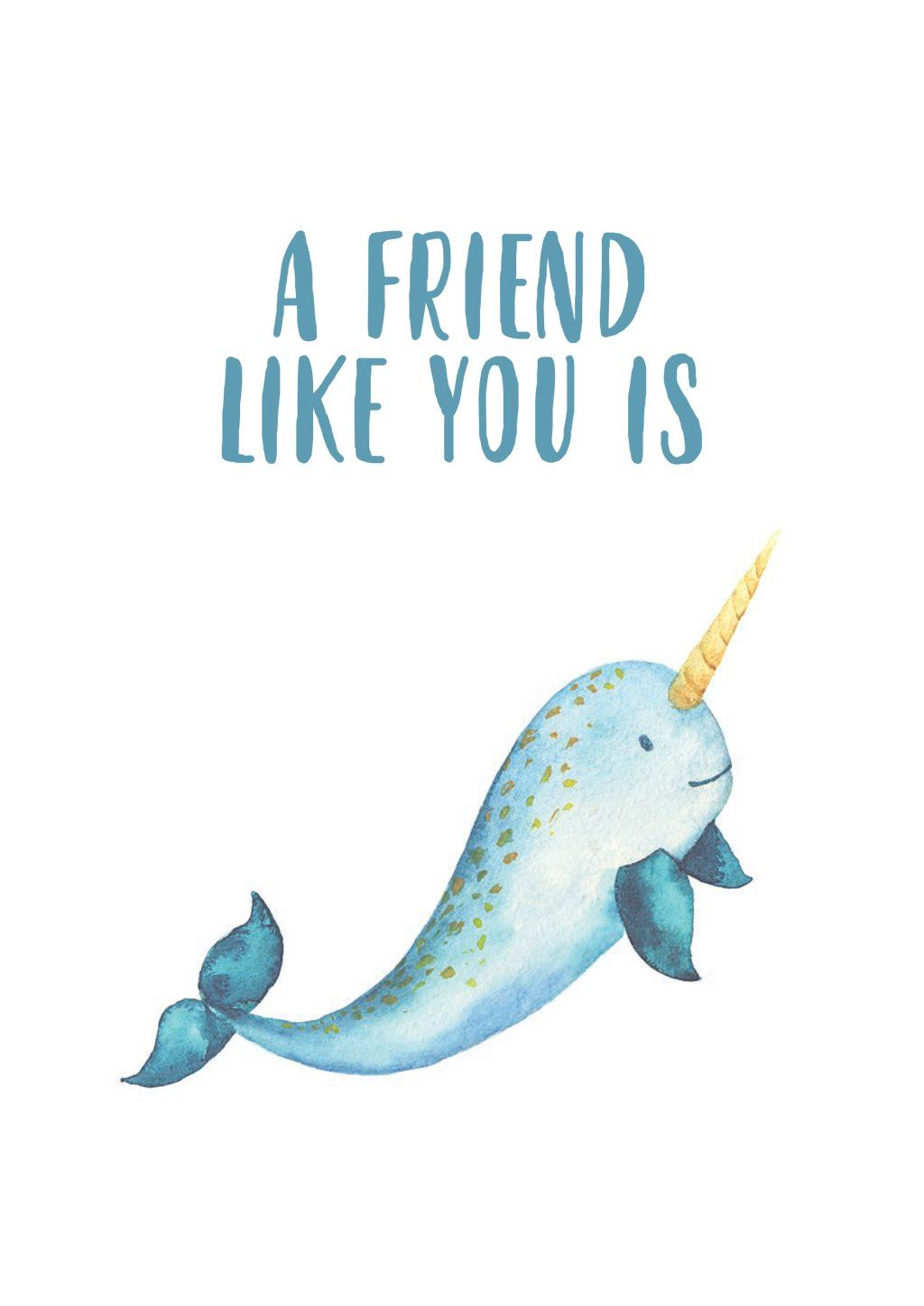 'Rare' Friendship Card - Northern Cards