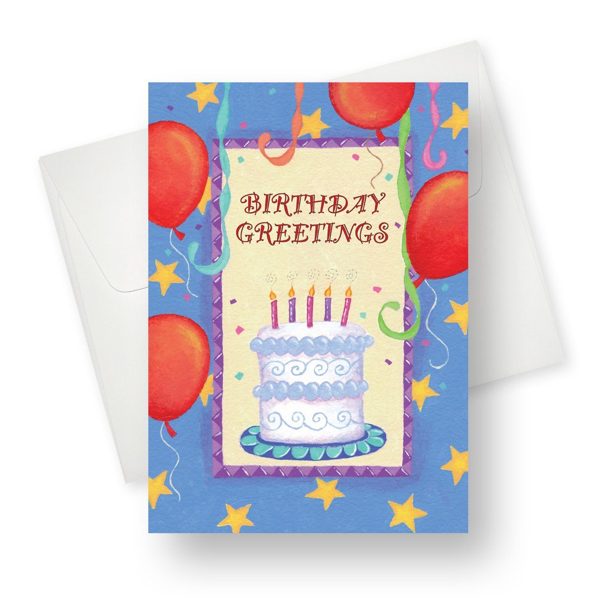 'Red Balloons' Birthday Card - Northern Cards