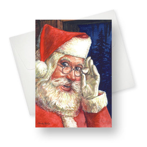 'Santa' Christmas Card - Northern Cards front with envelope