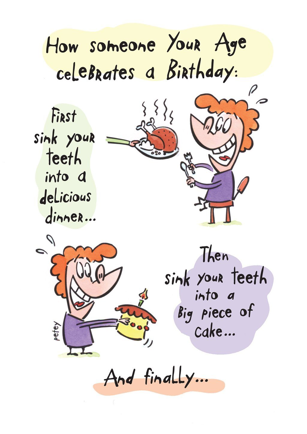 'Sink Your Teeth' Birthday Card - Northern Cards