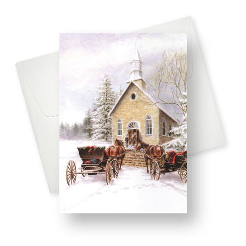 'Small Town Christmas' Merry Christmas Card - Northern Cards front with envelope